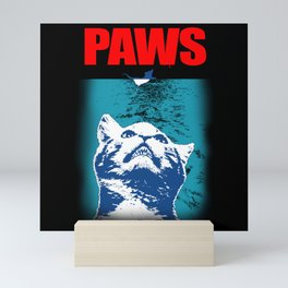 Funny Cat Gift - Paws Mini Art Print