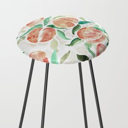 Watercolor Peaches Counter Stool
