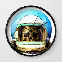 dead space Wall Clocks featuring Dead Space by Ryan Huddle House of H