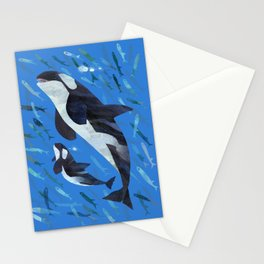 Killer Whale and Baby Stationery Cards