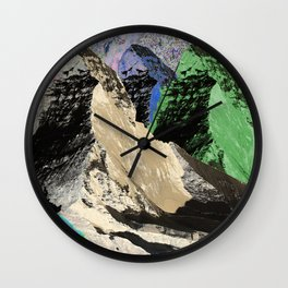 landscape collage #18 Wall Clock