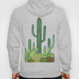 Desert Cacti on Black Hoody