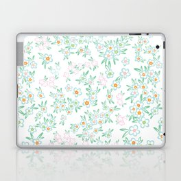 Forget me nots on white - in memory... Laptop & iPad Skin