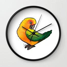 Sun Conure Wall Clock
