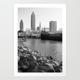 Cleveland Lakefront Art Print