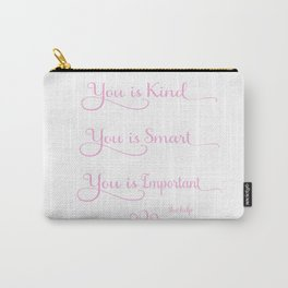 You is Kind - Pink and White Carry-All Pouch