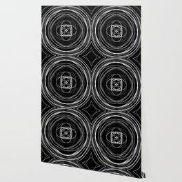 Black White Swirl Wallpaper