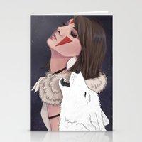 princess mononoke Stationery Cards featuring Princess Mononoke by Chelsea Hantken