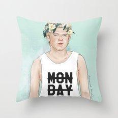 Flower crown Niall Throw Pillow