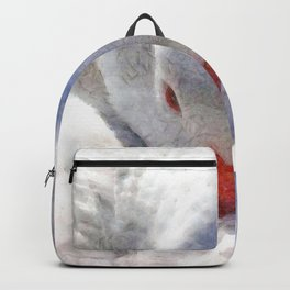 White Preening Duck - Feather and Down Close Up Backpack