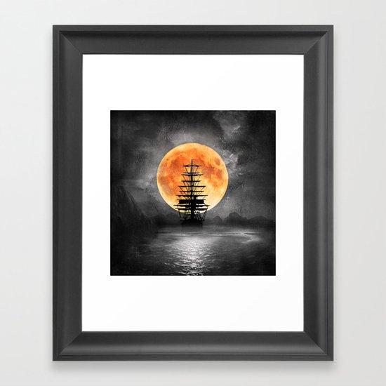 From the moon Framed Art Print