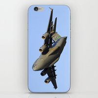 aviation iPhone & iPod Skins featuring C-17 Globemaster Aviation USAF Take Off by Aviator