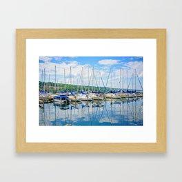 Glen Harbour Marina Framed Art Print