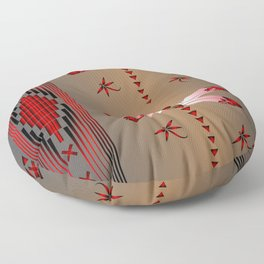 Dragonfly (Red) Floor Pillow