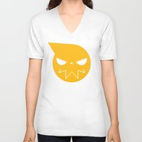 soul eater V-neck T-shirts featuring SOUL EATER 3 by Prince Of Darkness