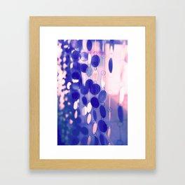 GLAM CIRCLES #Soft Pink/Blue #1 Framed Art Print