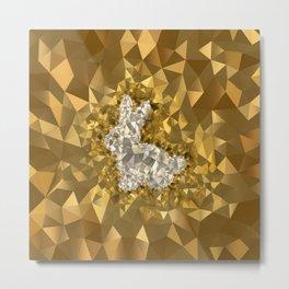 POLYNOID Bunny / Gold Edition Metal Print