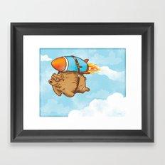 Rocket Bear Framed Art Print