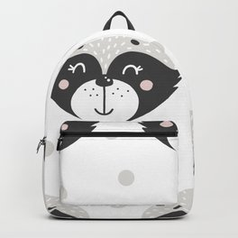 Baby Racoon - Racoon Baby Pattern Backpack