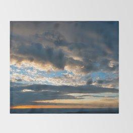Vibrant Sunrise Cloudscape Throw Blanket