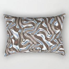 Silver metal texture Rectangular Pillow