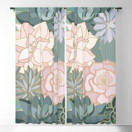 Floral Cactus Prints Blackout Curtain