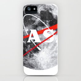 NASA Moon Landing Anniversary Classic Logo Graphic Tee iPhone Case