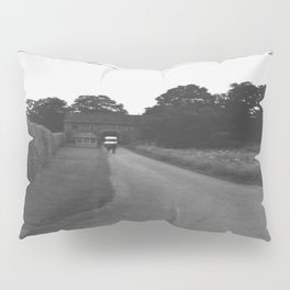 Uneven Sky Over an English Roadway Pillow Sham