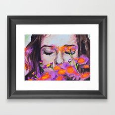 flower girl Framed Art Print