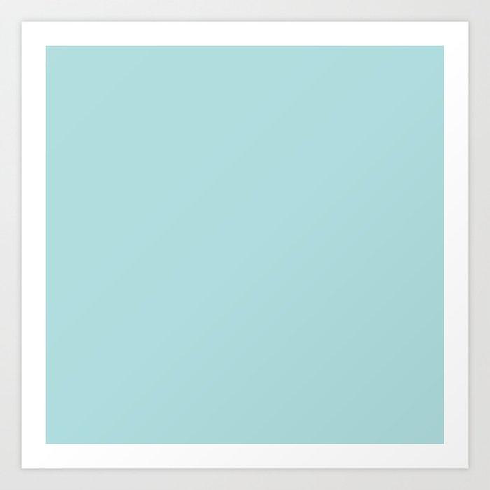 Robin's Egg Aqua Blue Kunstdrucke