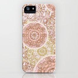 Rosey Gold Mandalas iPhone Case
