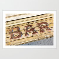 bar Art Prints featuring Bar by Chantal Seigneurgens
