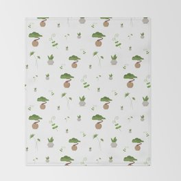 Plant Throw Blanket