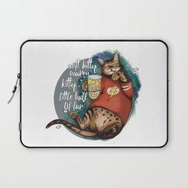 Soft kitty warm kitty little ball of fur galaxy cat Laptop Sleeve