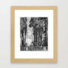 "Vintage Illustration - ""Garden Grotto"" Framed Art Print"