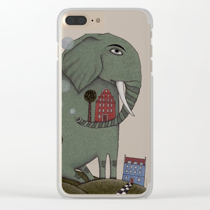 It's an Elephant! Clear iPhone Case