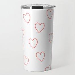 Ascending Red/White Love Hearts Travel Mug