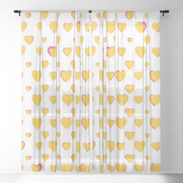 Made for you my heart 24 Sheer Curtain