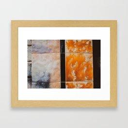 Decaying Building. Tiles. Australia. Framed Art Print