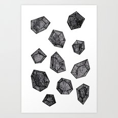 Black Diamonds Art Print
