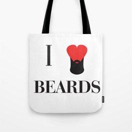 I heart Beards Tote Bag