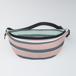 Stripes Modern Abstract Pattern, Blush Pink, Sage, Blue Fanny Pack