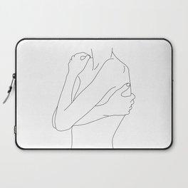 Woman's body line drawing illustration - Dahl Laptop Sleeve