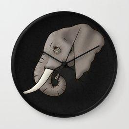 Elephant Ivory Wall Clock