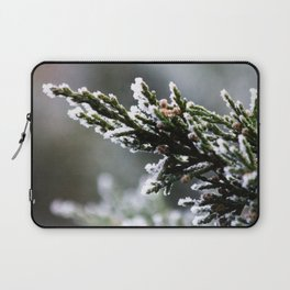 Pine Tree Covered with Snow Laptop Sleeve