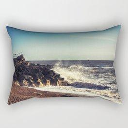 Battered Rocks Rectangular Pillow