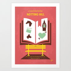No434 My Notting Hill minimal movie poster Art Print