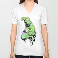 hulk V-neck T-shirts featuring HULK by JayArr