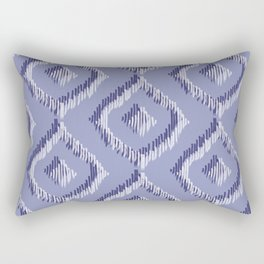 Ikat Blues II Rectangular Pillow