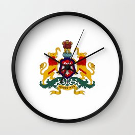 Seal of Karnataka Wall Clock